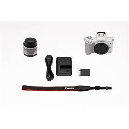 Canon EOS M50 Body With EF-M 15-45mm IS STM Lens Kit - White Thumbnail Image 16